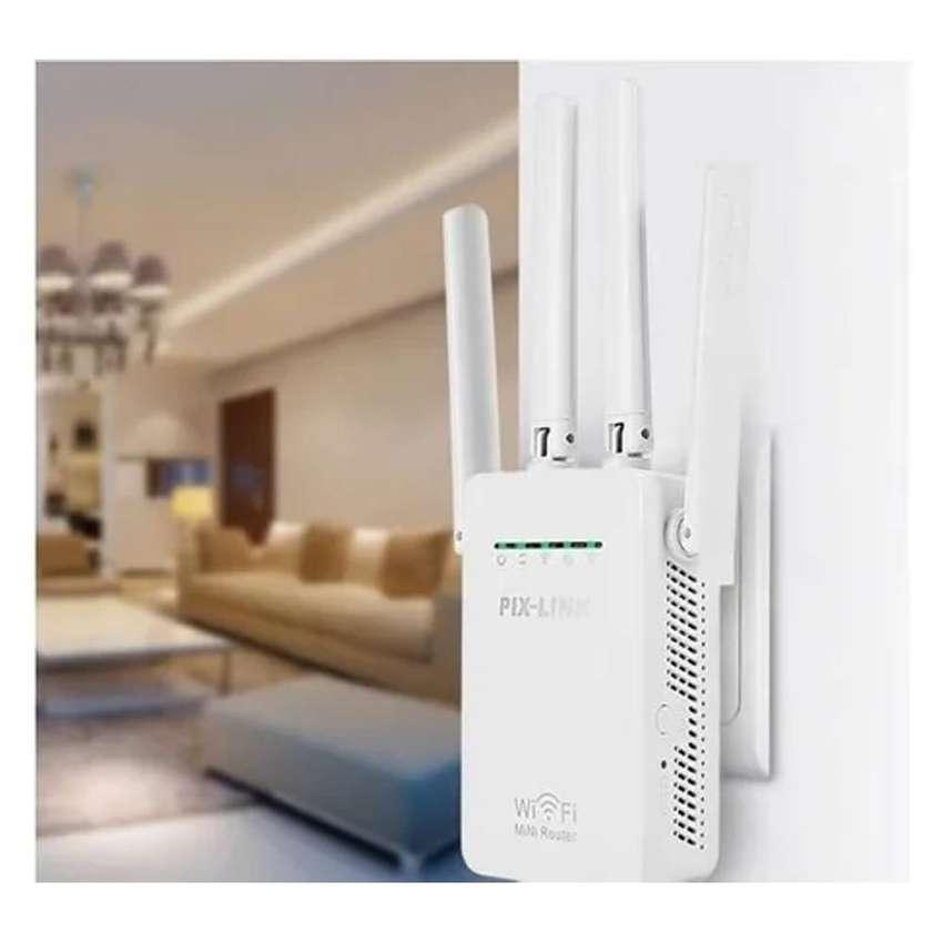 Repetidor Wifi Mini Router Enrutador 4 Antenas Wireless-N Pix-Link LV-WR09