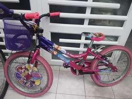 Bicicleta frozen niña