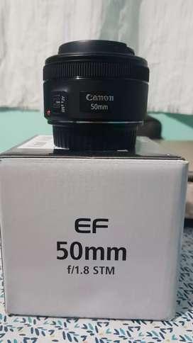 Objetivo Canon 50mm STM