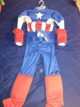 Disfraces Spiderman Y Capitan América