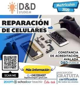 Curso de reparación de celulares.