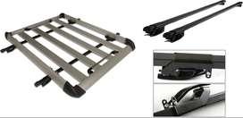 Parrilla De Techo Portaequipaje De Aluminio Carro Automovil Camioneta Con Barras y Sistema De Caimanes Ref. MC-Rack