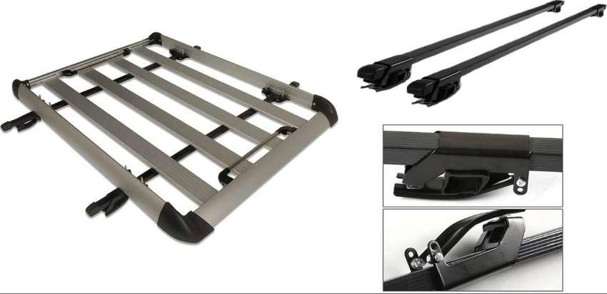 Parrilla De Techo Portaequipaje De Aluminio Carro Automovil Camioneta Con Barras y Sistema De Caimanes Ref. MC-Rack 0