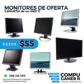 MONITORES $55 con GARANTIA Dell, Hp, y Samsung estamos en QUITO visita nuestro local !!