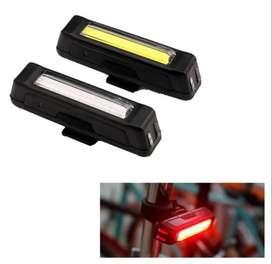 Luz Para Bicicleta Recargable - 3 colores - recargable