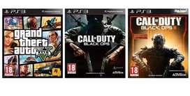 Combo Ps3 Gta V , Call Of Duty Black Ops 3 , Black ops 1