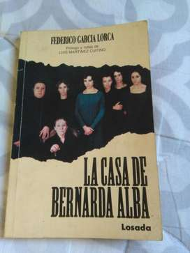La Casa de Bernarda Alba . Garcia Lorca . Teatro editorial Losada