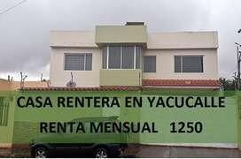 De oportunidad!!! Casa rentera en Yacucalle
