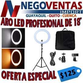 ARO LED PROFESIONAL DE 18 PULGADAS OFERTA  125