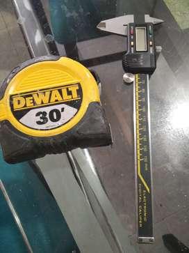 Vendo cinta métrica y calibrador