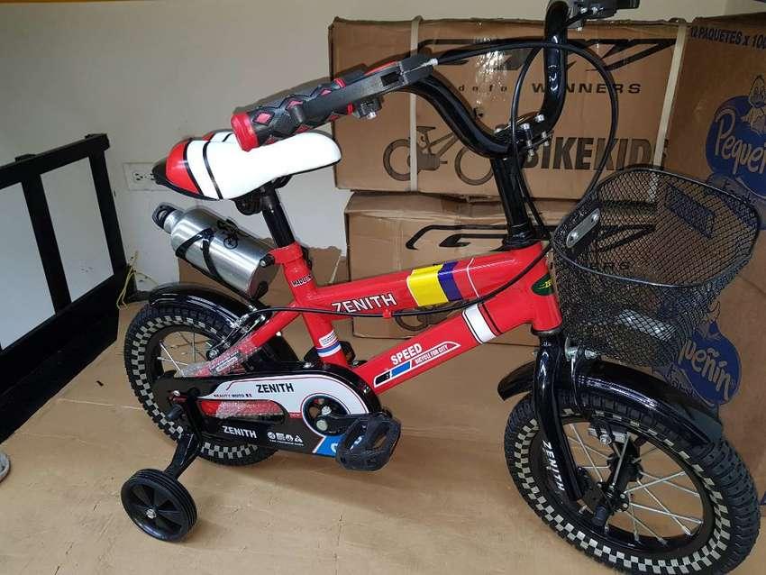 Bicicleta Bebes Niños Infantil 12 Pulgadas 2 A 5 Año Juguete 0