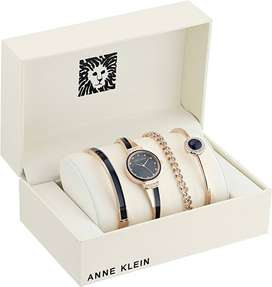 Reloj Set Anne Klein Con Cristales Swarovski Rosegold Quartz