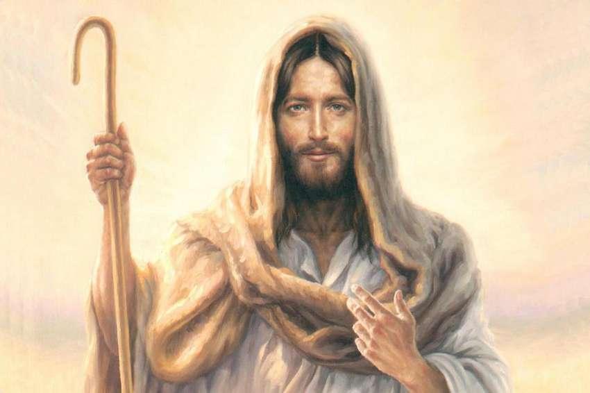 Lienzografia  pastor jesus