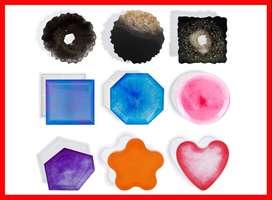 moldes de silicona para posavasos de resina, molde de resina epoxi para hacer posavasos,