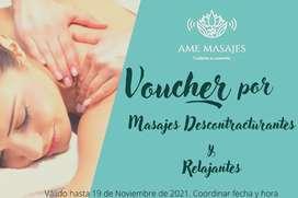 Vouchers por masajes
