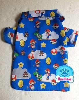 Camisa Mario Bross para perros y gatos
