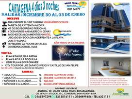 TOUR CARTAGENA SALIDAS DICIEMBRE