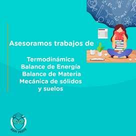 Asesoramos trabajos, tareas de balance de energía, balance de materia, termodinámica, álgebra lineal, física, ecuaciones