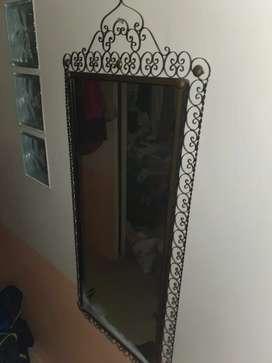Espejo marco hierro espejo 40x80