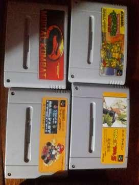 Vendo juegos de súper Nintendo y Nes