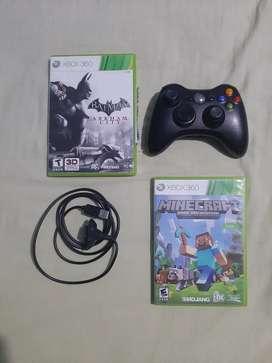 Control Xbox 360 y 2 Juegos