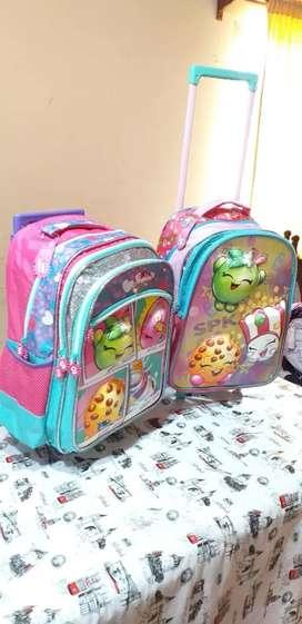Mochilas con carrito reforzadas y mochilas con luz