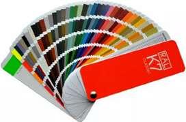 CARTA  colores RAL K7