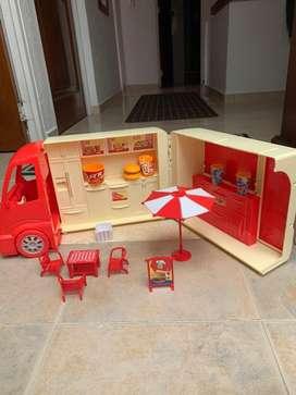 Carro de comida rapida y accesorios