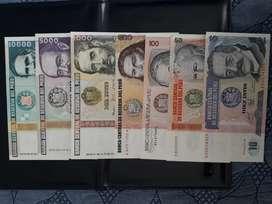 Billetes Perú antiguos