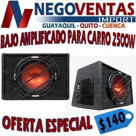 BAJO AMPLIFICADO PARA CARROS DE 2500 WATTS