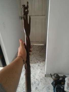 Talla en Madera Bastón Indígena 70cm