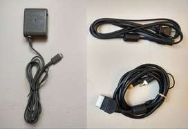Xbox Nintendo Gameboy cargador Game Boy cable audio video energía corriente