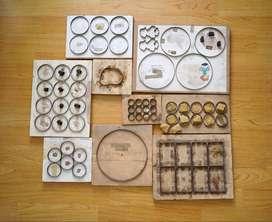 Lote troqueles de acero circulares + Extra