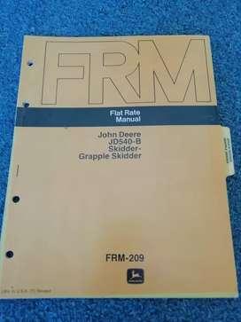 MANUAL JOHN DEERE 540 B Skidder y Grapple  Skidder FRM FLAT RATE Manual