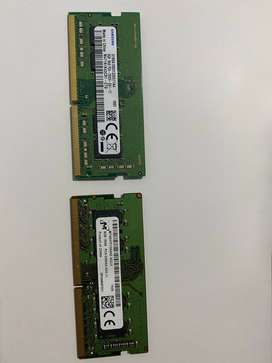 8GB Ram DDR4 Portatil Laptop 2666Mhz (2 Disponibles)