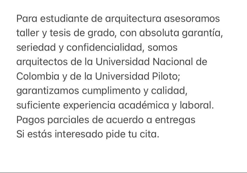 Arquitectos para estudiantes de arquitectura 0