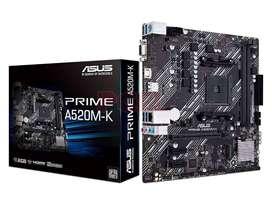 PLACA MADRE 《NUEVA》Asus Prime A520m-k Amd Am4