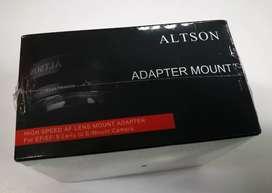 Conversor lentes Canon EF para Camara Sony Montura E