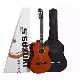 Guitarra electrocriolla c/funda - Suzuki