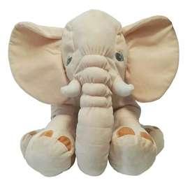 Elefante de peluche 60cm beige
