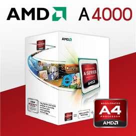 PROCESADOR AMD APU 4000 , BOX 3 AÑOS DE GARANTIA