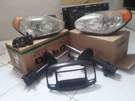 2 amortiguadores mando 2 Faros Depo 2 bobinas - Mascarilla para Radio