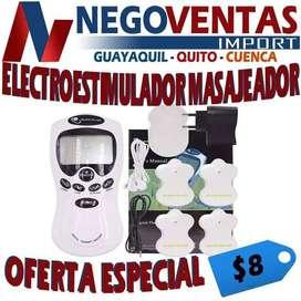 ELECTROESTIMULADOR 4 PARCHES TIPO MARIPOSA