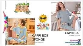 Pijama verano estilo Capri bob esponja - Bygreyvall