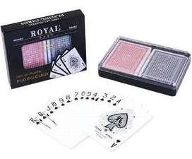 Baraja Cartas Juego Poker Royal Plastificadas