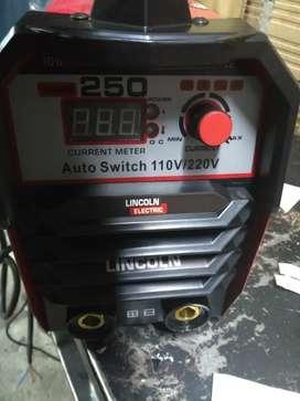 Equipo de soldadura inversor de 250 amperios nuevo con accesorios para trabajo continuo