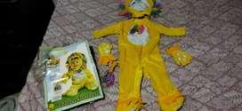 Disfraz de león 12/18 meses tela peluche