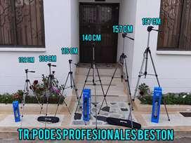 TRÍPODES PROFESIONALES BESTON PARA CELULARES Y CÁMARAS DIGITALES