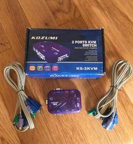Switch 2 Dos Puertos con Cables