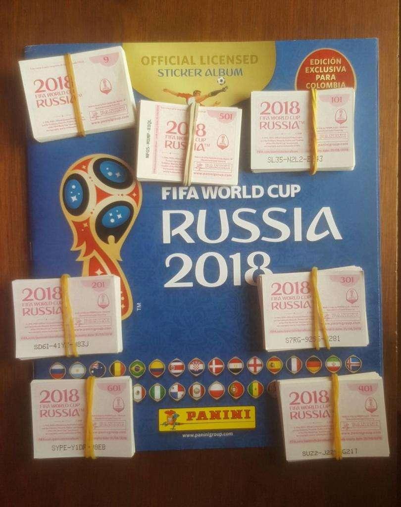 ÁLBUM PANINI RUSIA 2018, 669 LÁMINAS SUELTAS, 80.000 0